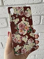 Накладка пластиковая цветочный принт для Sony Xperia Z5