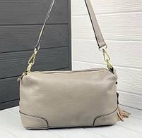 Жіноча шкіряна сумка. Сумочка жіноча з натуральної шкіри, сумка для дівчат на кожен день, фото 4