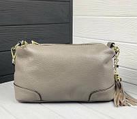 Жіноча шкіряна сумка. Сумочка жіноча з натуральної шкіри, сумка для дівчат на кожен день, фото 6