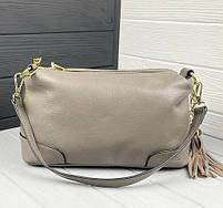 Жіноча шкіряна сумка. Сумочка жіноча з натуральної шкіри, сумка для дівчат на кожен день, фото 9