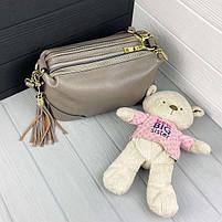 Жіноча шкіряна сумка. Сумочка жіноча з натуральної шкіри, сумка для дівчат на кожен день, фото 2