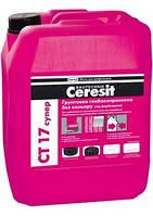 Грунтовка глубокопроникающая бесцветная Ceresit CT 17/5л (под покраску)