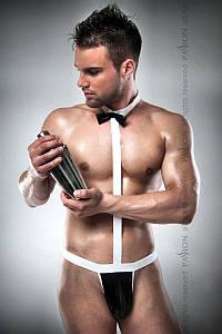 Чоловічий еротичний костюм офіціанта Passion 021 BODY L/XL: дуже відверте боді