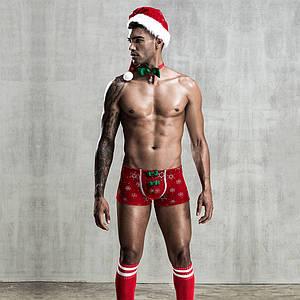 Новогодний мужской эротический костюм Любимый Санта