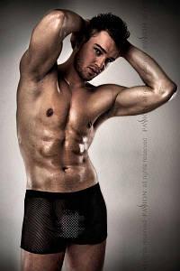 Мужские шортики в сеточку Passion 004 SHORT black L/XL