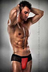 Мужские трусики с красным гульфиком Passion 007 THONG red L/XL