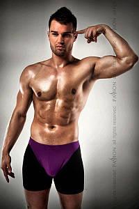 Мужские шорты с фиолотовым гульфиком Passion 009 THONG violet L/XL