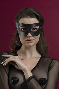 Маска на обличчя Feral Feelings - Mistery Mask, натуральна шкіра, чорна