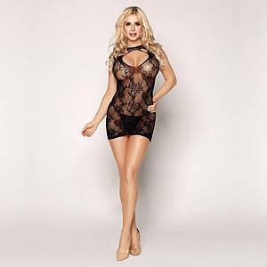 Эротическое платье-сетка с сексуальным вырезом Грация S/M
