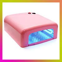 УФ лампа для сушки полимеризации гель лака DX 818 на 36Вт ультрафиолетовая сушилка для маникюра