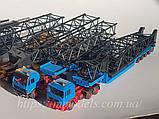 Kibri 10356 Набор автомобилей для перевозки крана Gottwald,б/у, масштаб H0,1/87, фото 4