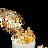 Съедобное пищевое золото кондитерское для декора в хлопьях - 2 г