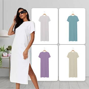 Модное однотоннее платье белого цвета (базовый гардероб) ТМ СДВУ модель SD2