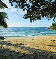 Фотообои виниловые 3D море и пляж 195x205 см