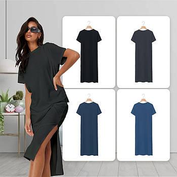 Модное однотоннее платье серого цвета (базовый гардероб) ТМ СДВУ модель SD2