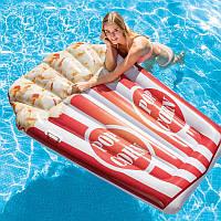 Надувной плотик Intex Попкорн 58779 | Пляжный матрас для плавания | Надувная платформа 178х124 см, от 3 лет
