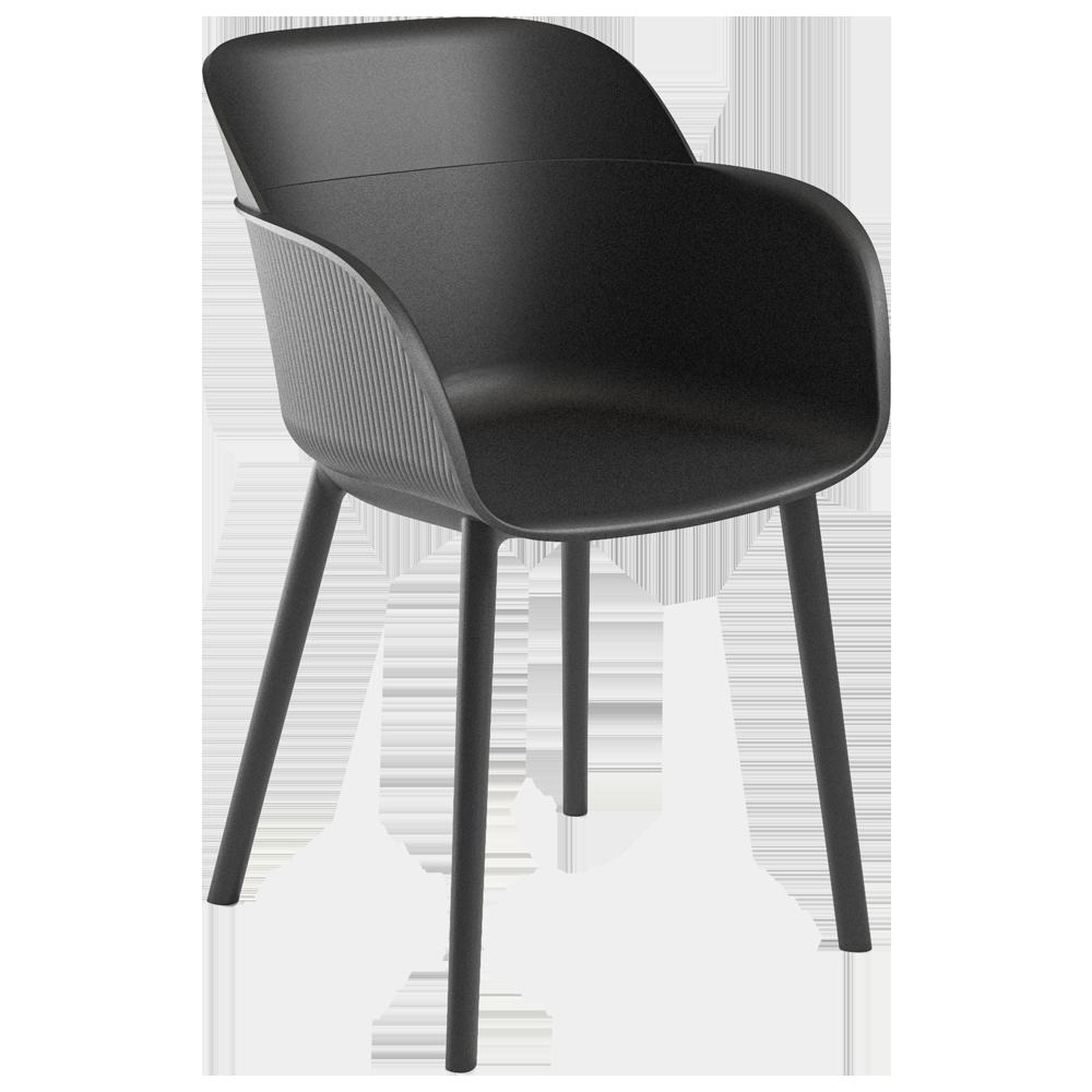 Кресло Tilia Shell-P черное