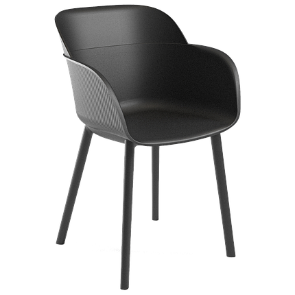 Кресло Tilia Shell-P черное, фото 2