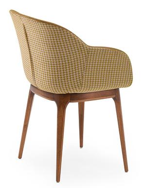 Крісло Tilia Shell-W Pad ніжки букові, сидіння з тканиною PIED DE POULE 04, фото 2