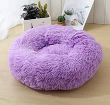 Лежанка ліжко для кішки чи песика бузкова  діаметром 50 см.