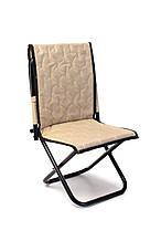 Рыбацкий стул со спинкой, компактный, раскладной. Незаменимая вещь для хорошего улова и отдыха. Цвет: бежевый.