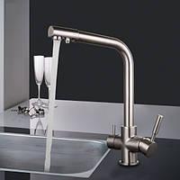 Смеситель для кухни на две воды Frap H52 F4352-5 сатин ОСМОС