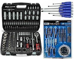 Набор инструментов 108 ед. Profline + Набор отверток 6 шт. + Набор из 24 единиц фирмы PROFLINE  61085-0015