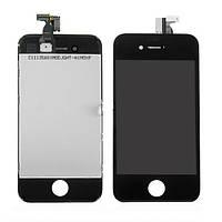 Дисплейный модуль (экран + сенсор) iPhone 4S чёрный (копия высокого качества)