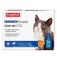 Краплі антипаразитарні з диметиконом (IMMO SHIELD) для котів і кошенят (3 піпетки)