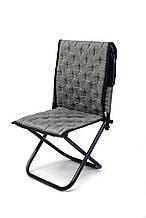 Рыбацкий стул со спинкой, компактный, раскладной. Незаменимая вещь для хорошего улова и отдыха. Цвет: серый.