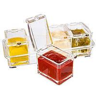 Набор для специй 4 ёмкости Crystal Seasoning Box 193546