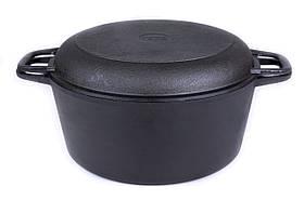 Чавунна каструля Біол з кришкою-сковородою 5 л. (08051)