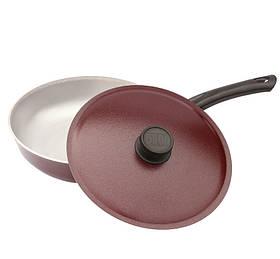 Сковорода с внешним декоративным покрытием алюминиевая Биол 22 см А223Д