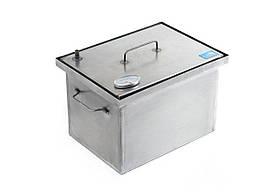 Коптильня для горячего копчения 1,5 мм с термометром 400х300х280 h-06