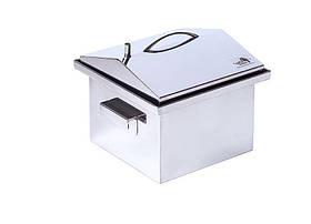 Коптильня гарячого копчення кришка Будиночок з нержавіючої сталі 400х300х310 h-025