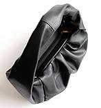 Жіноча чорна шкіряна сумка-хобо СУМ-13348, фото 3