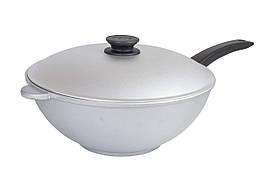Сковорода WOK алюминиевая Биол с крышкой 30 см 3002К