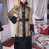 Шуба леопардовая оцелот Roberto Cavalli