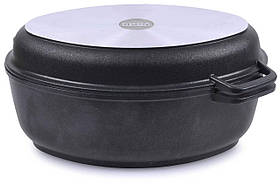 Гусятниця Біол антипригарна з кришкою-сковородою 6 л Г601П
