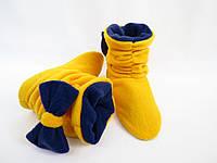 "Тапочки-ботинки ""Бантики"" (р.34-43)"