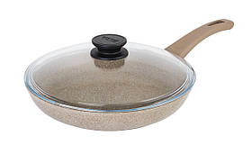 Сковорода Оптима-Декор Біол антипригарна з скляною кришкою 28 см 28047ПС