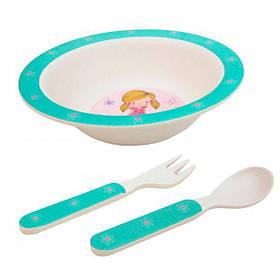 Дитячий набір посуду Модниця (3 предмета)