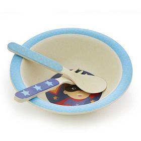 Дитячий набір посуду Супер-Хлопчик (3 предмета)