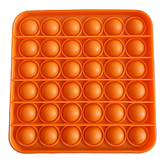 Pop It сенсорна іграшка, пупырка, поп іт антистрес, pop it fidget, попит, помаранчевий квадрат