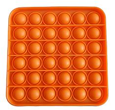 Pop It сенсорная игрушка, пупырка, поп ит антистресс, pop it fidget, попит, оранжевый квадрат