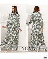 Платье №8636-зеленый р.42;44;46;48