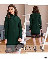Платье №4019-темно-зеленый р.42-44;46-48