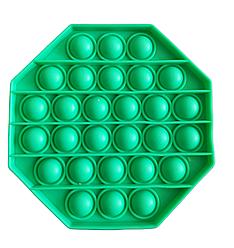 Pop It сенсорна іграшка, пупырка, поп іт антистрес, pop it fidget, попит, бірюзовий восьмикутник