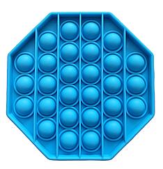 Pop It сенсорная игрушка, пупырка, поп ит антистресс, pop it fidget, попит, синий восьмиугольник