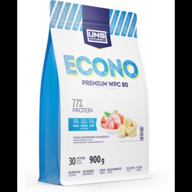 Протеїн UNS Econo Premium, 900 г, Бананово-Полуничне Морозиво and Banana Strawberry Ice Cream